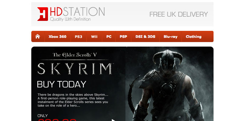 HDStation.co.uk HTML Email Design & Build